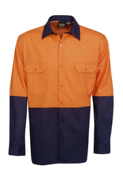Blue Whale-C81-Light Wt Hi Vis Drill Shirt, L/S