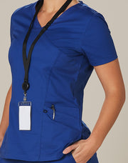 Benchmark-M7640-Ladies S/S One Colour Scrub Top