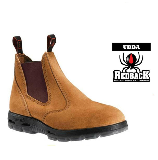 Redback-UBBA-Banana Suede Elastic Sided Boot