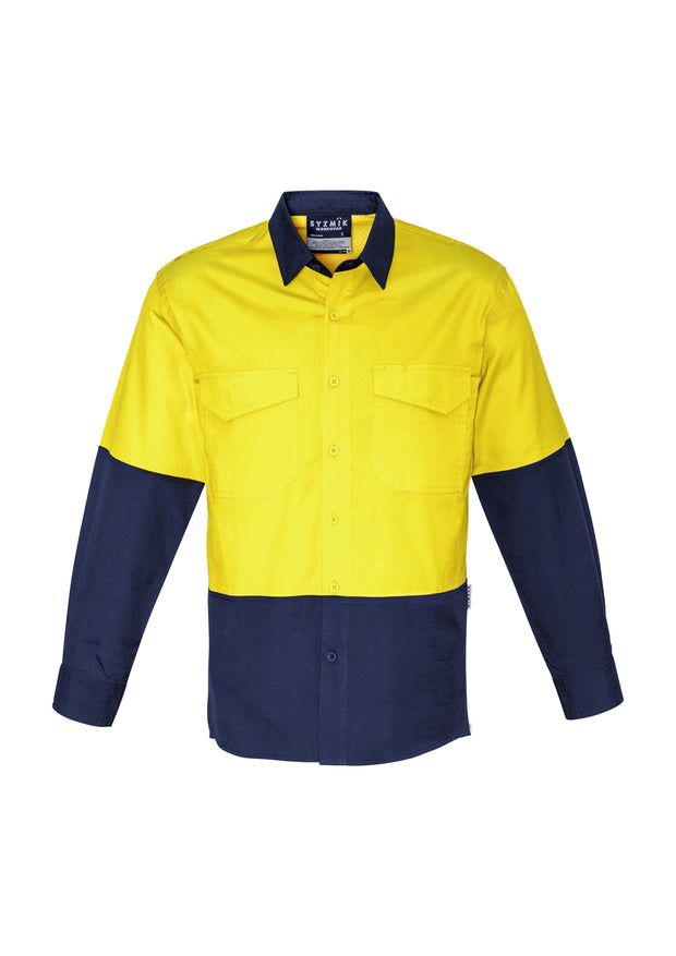 Syzmik-ZW128-HiVis Rugged Cooling Spliced Shirt