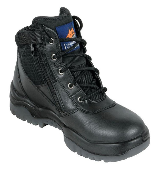 Mongrel Boots-261020-Black Zip Sided Safety Boot