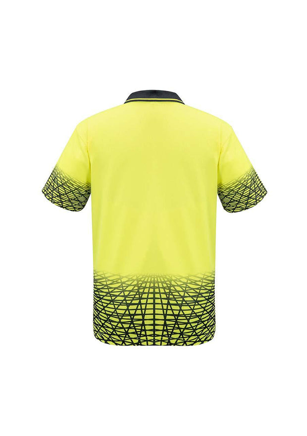 Syzmik-ZH300-HiVis Mens S/S Track Polo