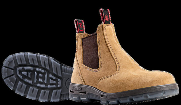 Redback-USBBA-Suede Elastic Sided Safety Boot