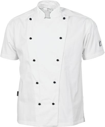 DNC-1105-Three Way Ventilated S/S Chef Jacket