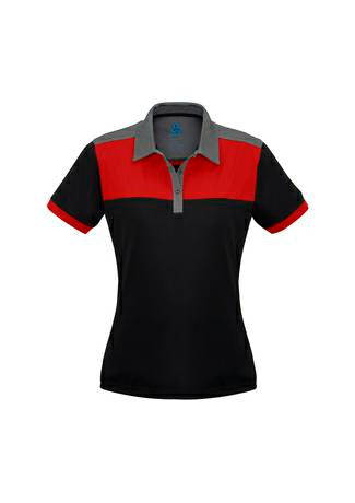 Biz Collection-P500LS-Charger Ladies S/S Polo