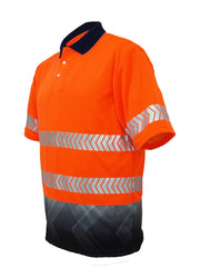 Bocini-SP0753-Hi Vis S/S Polo with R/Tape