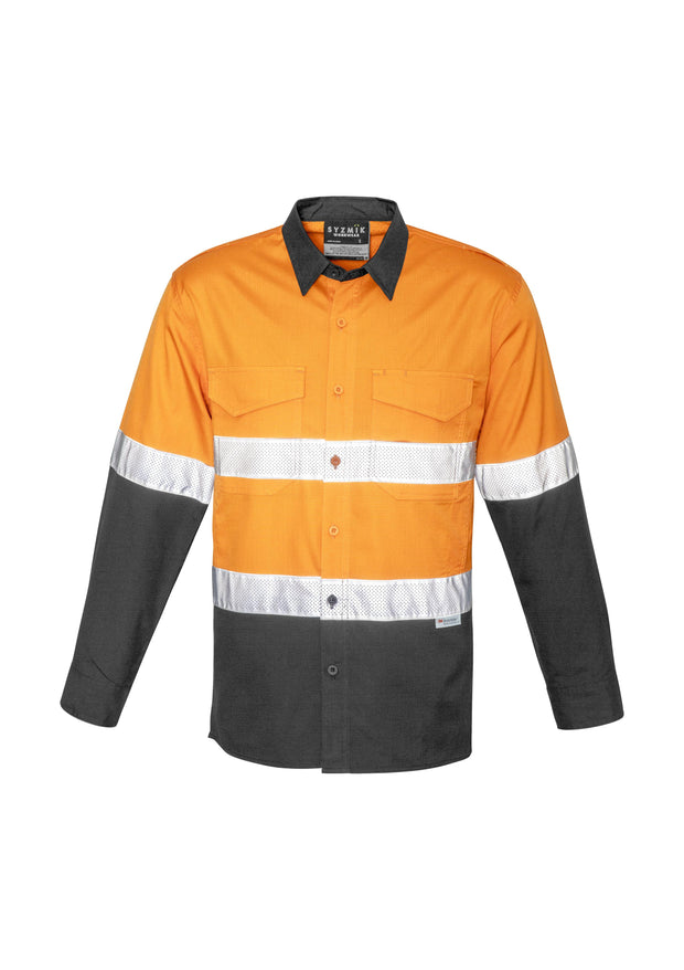 Syzmik-ZW129-HiVis Rugged Cooling Taped Shirt