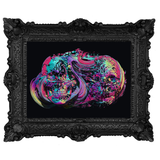 abstract skull Poster