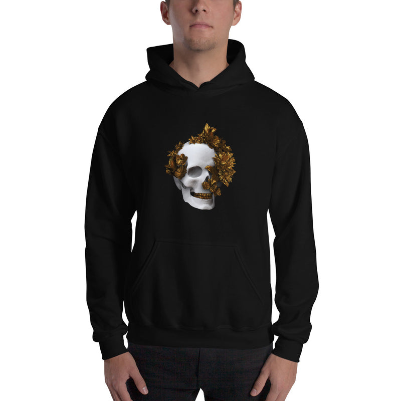 White and gold skull Unisex Hoodie