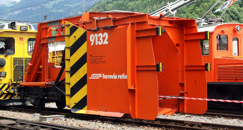 """RhB Räumpflug Xk 9132 orange ""Metal Collection"""