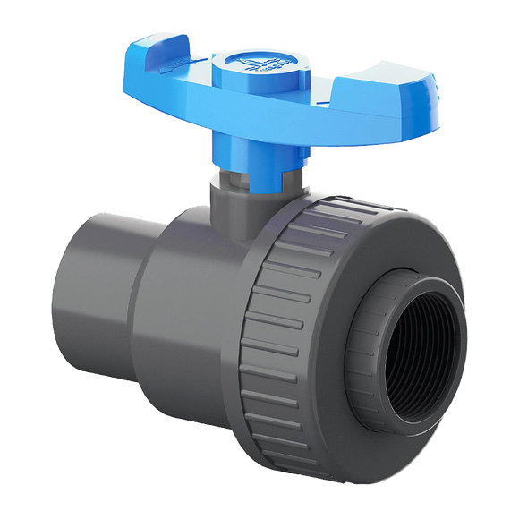 Union Ball Valve Single F X F & S X S 1 1/2 In
