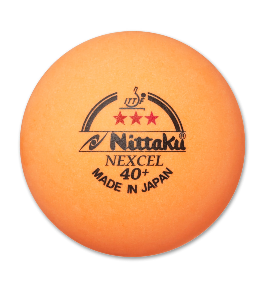 Nittaku 3-Star Nexcel 40+ Orange (3 Pack)