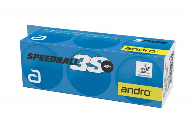 Andro 3 Star Speedball ABS 3S 40+ (144 balls)