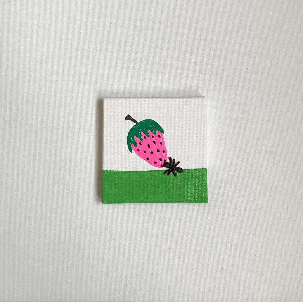 Strawberry ant painting