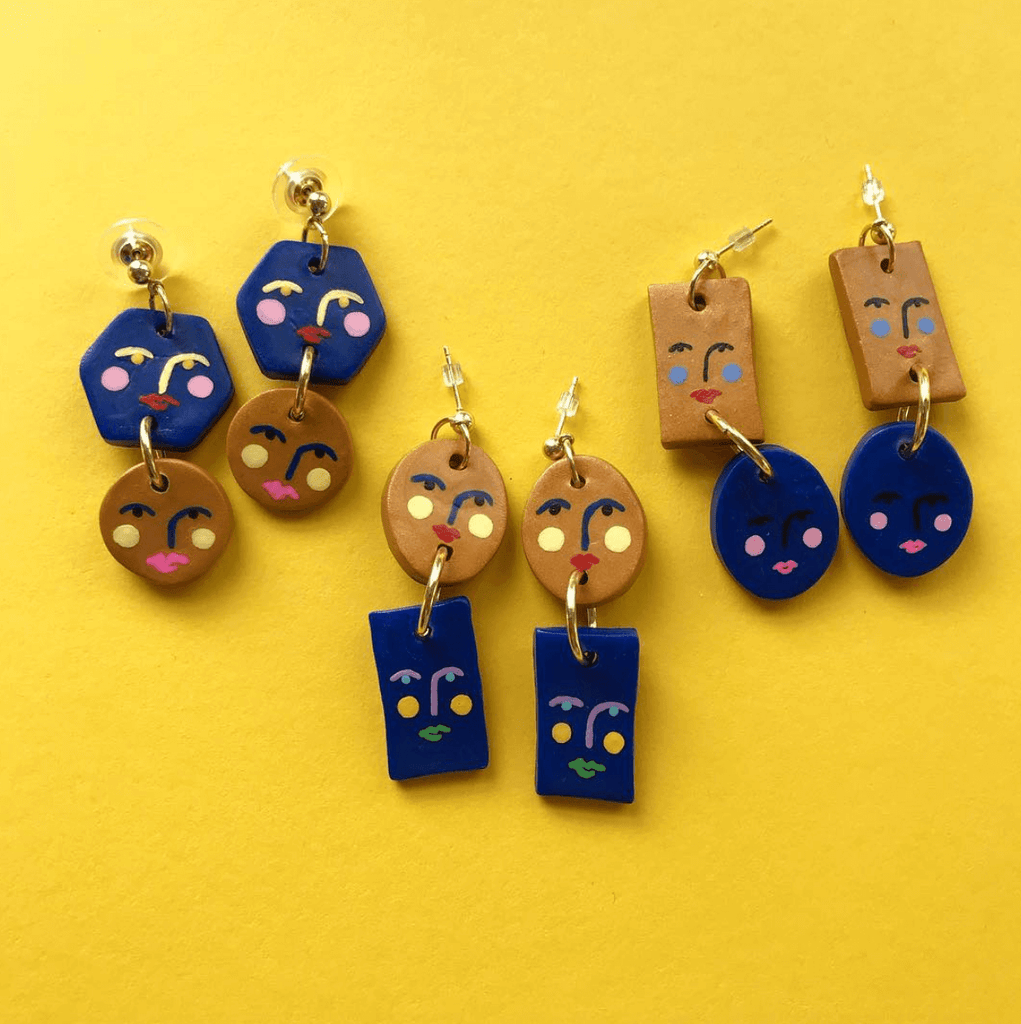 Face earrings