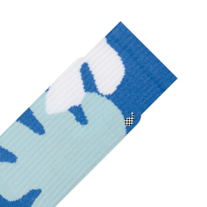 bright colourful blue athletic socks