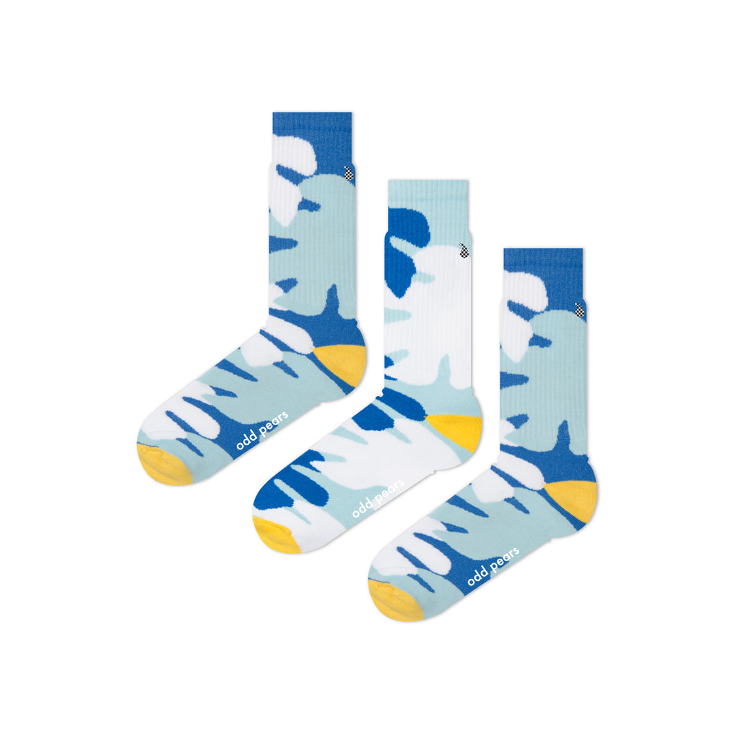 cool blue athletic socks