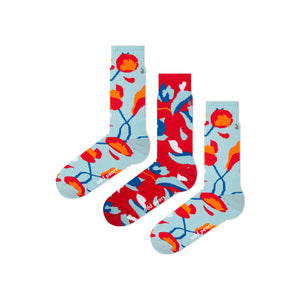 red and blue socks for sport