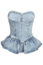 Load image into Gallery viewer, Azul Peplum Top