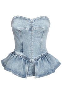 Azul Peplum Top