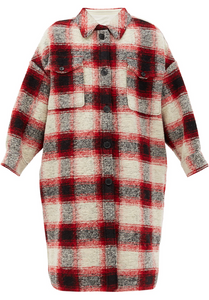 Kelsey Plaid Jacket - Red