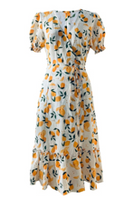 Load image into Gallery viewer, Callie Wrap Lemon Midi