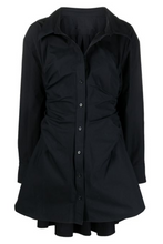 Load image into Gallery viewer, Ollande Shirt Dress - Black