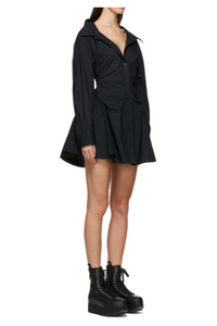 Ollande Shirt Dress - Black