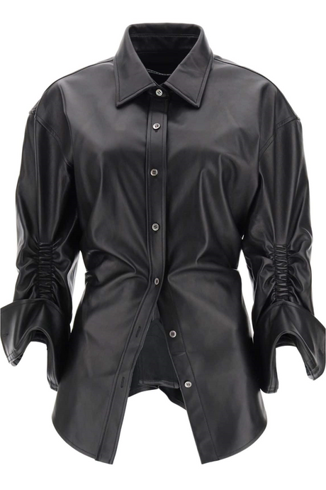 Ziggy Cinched Leather Shirt