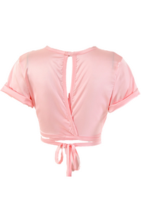 Tammy Cropped Top - Pink