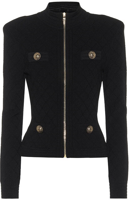 Grace Zip Cardigan - Black