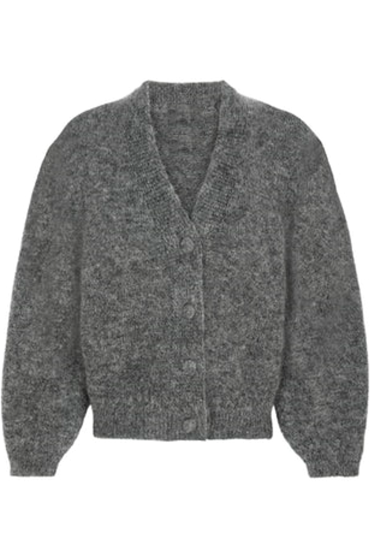Zara Cropped Cardigan - Grey