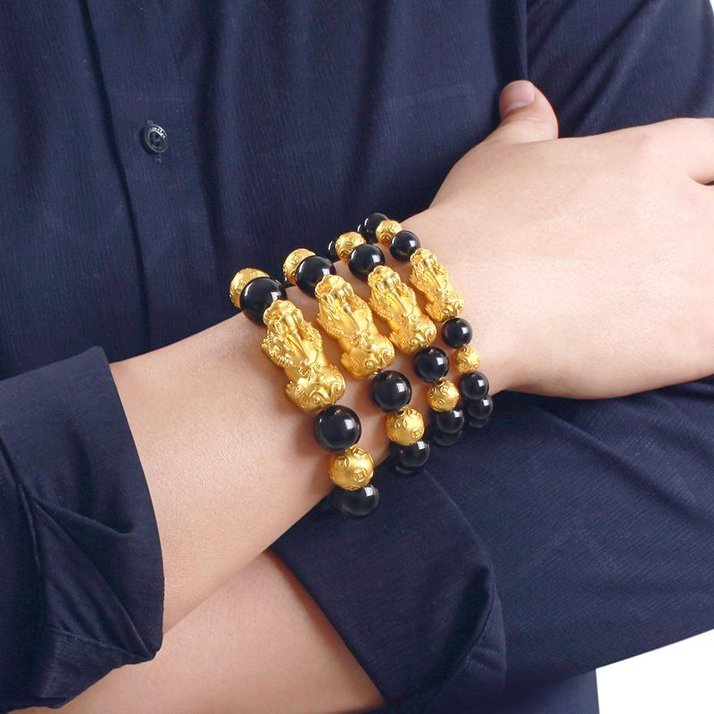 4 pcs Pi Xiu/Pi Yao Attract Wealth and Good Luck Mantra Stone Bracelet