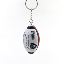 Load image into Gallery viewer, NFL Super Bowl Memorial Rugby Keychain