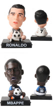Load image into Gallery viewer, Cartoon Football Stars Doll Car Decoration Phone Holder