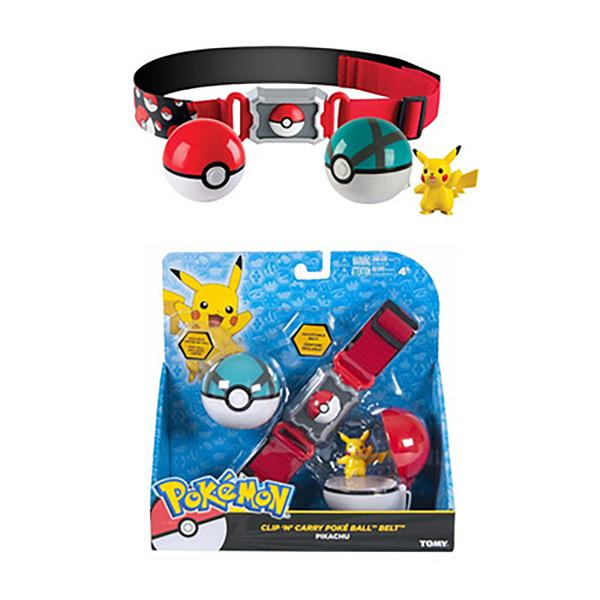 Poké Ball Clip and Carry Adjustable Belt with 2 inch Figure