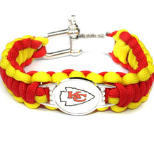 Load image into Gallery viewer, NFL Outdoor Rescue Football Team Umbrella Rope Camping Adventure Emergency Bracelet