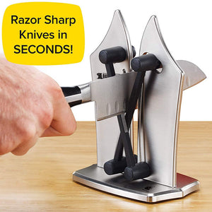 Kitchen Knife Sharpener, Sharpens, Hones, Standard Blades