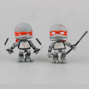 (TMNT)Teenage Mutant Ninja Turtles Cartoon Version  Assembled Toys  4pcs
