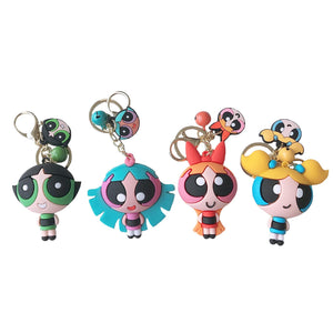 The Powerpuff Girls Doll Keychain Cute Pendant