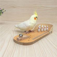 Load image into Gallery viewer, Bird Training Toys Mini Desktop Wooden Bowling Parrot Toys Education Play Toys