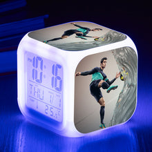 Load image into Gallery viewer, Messi Neymar Cristiano Ronaldo Football Star LED Colorful Alarm Clock