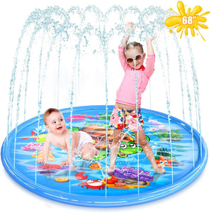"68""Child Outdoor Play Splash Pad Sprinklers"