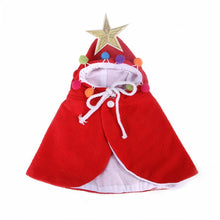 Load image into Gallery viewer, Funny Christmas Clothes Pet Dog Cat Clothes Santa Hat Deer Cloak Costume