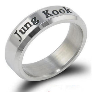 Kpop BTS Stainless Steel Fashion Unisex Ring