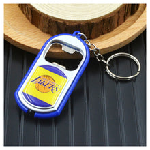 Load image into Gallery viewer, NBA LED Light Keychain Bottle Opener