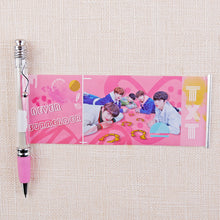 Load image into Gallery viewer, Blackpink EXO GOT7 KPOP Star Black Ink Gel Pen With Cute Photo Stationery Supplies