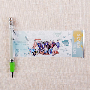 Blackpink EXO GOT7 KPOP Star Black Ink Gel Pen With Cute Photo Stationery Supplies