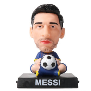 Cartoon Football Stars Doll Car Decoration Phone Holder