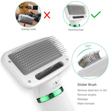 Load image into Gallery viewer, Pet Hair Dryer – Portable and Quiet 2 in 1 Pet Grooming Hair Dryer Blower with Slicker Brush